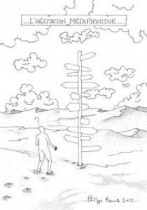 Philippe Ramette - L'hésitation métaphysique, 2012 - Dessin préparatoire à l'encre - Courtesy Galerie Xippas