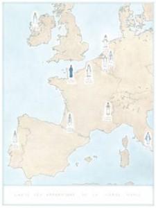 Jean-Jacques Rullier, Cartographie des apparitions de la Vierge © Jean-Jacques Rullier
