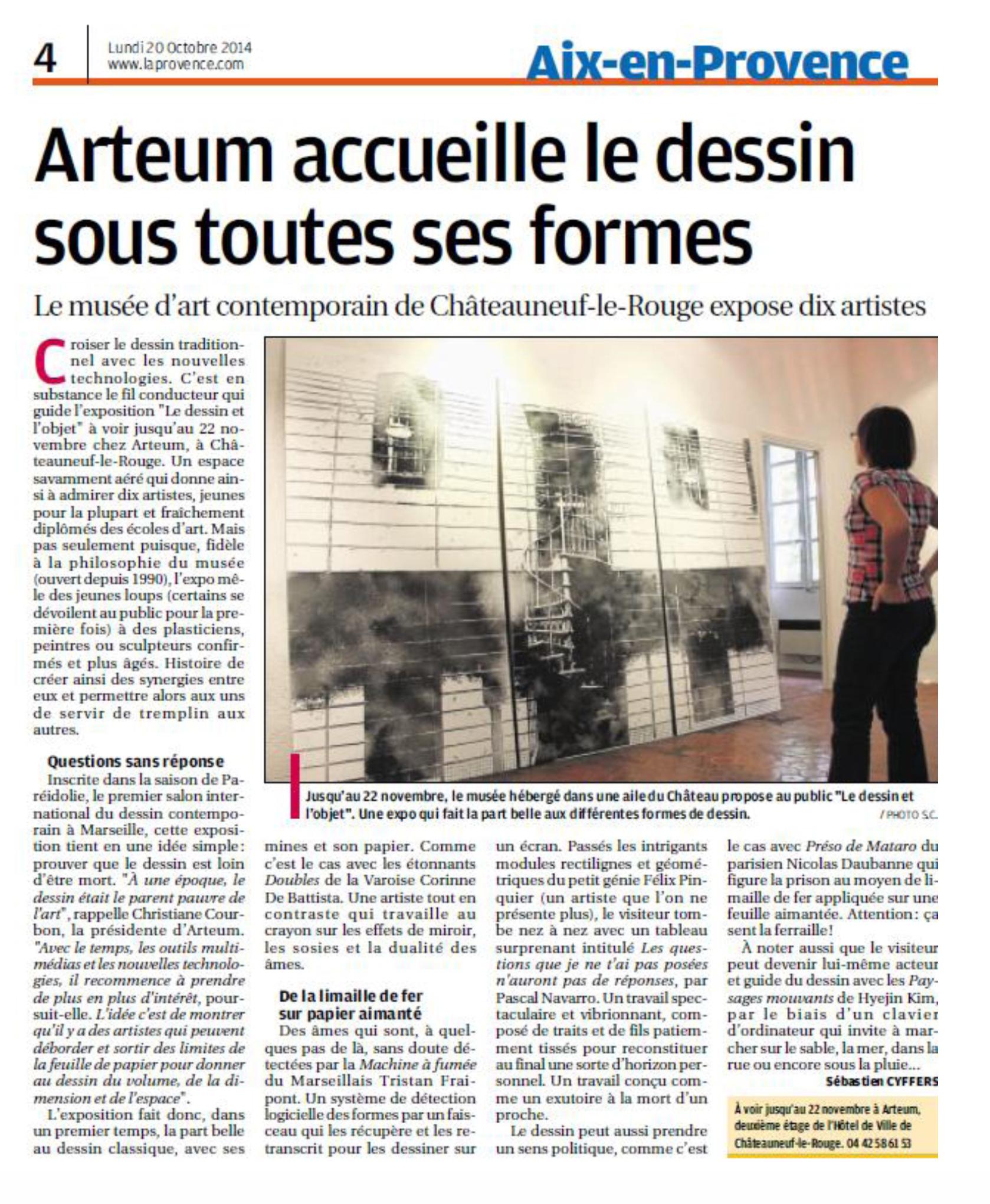 Article La Provence Le dessin et l'objet #2