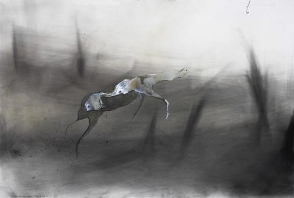 Lionel Sabatte-caresse boisee-2016-charbon sur papier-60x80cm